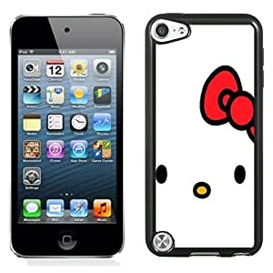 NEW Unique Custom Designed iPod Touch 5 Phone Case With Hello Kitty Minimal_Black Phone Case