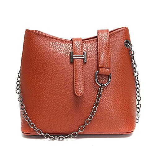 bolso retro bolsa Nuevo rojo cuchara simple bolso brown Dark moda de hombro casual OWw8wBqHf