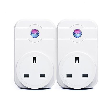 Enchufe inteligente con bombilla LED y control a distancia por wifi 2000.00W, 230.00V