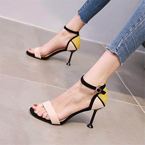 dita punta e con estate YMFIE sandali alta le sottile In qualità piedi b di dei HnwtqgtC
