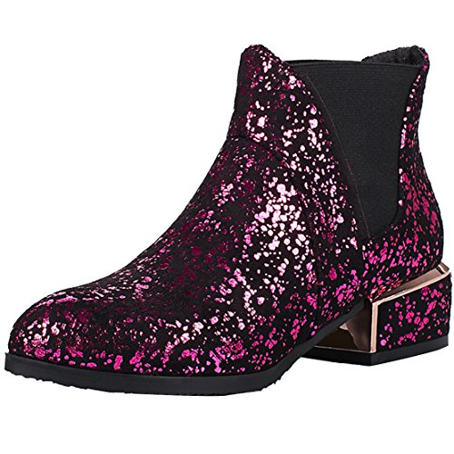 AIYOUMEI Women's Classic Boot Red wqEAq5jJzW