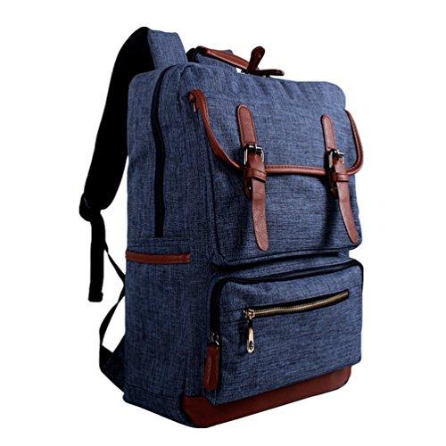 Daypacks Escolares Hombro Mochila Zafiro Zkoo Laptop Backpack Lona Mujer Mochilas De Casual Multifunción Viaje Hombre Bolsa nBqRX8O