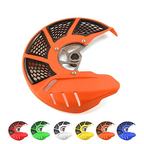 - Front Brake Disc Rotor Guard Protector Cover For KTM SX XC EXC SXF XCF XCW XCFW EXCF SIX DAYS 125 150 200 250 300 350 400 450 500 505 525 530 2015-2019 Dirt Bike Orange