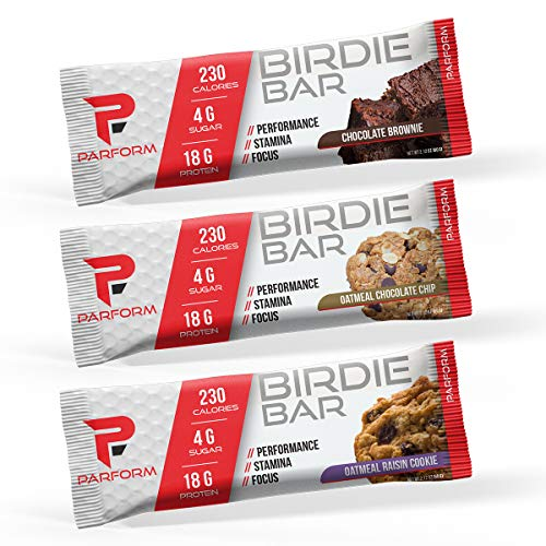 Parform Birdie Bar High Protein Bar All-In-One Performance Nutrition Bar 230 Calories, 4g of Sugar 18g of Protein 12 Bars, Variety Pack