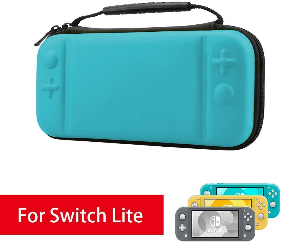 AFAITH Carrying Case for Nintendo Switch Lite, with 8 Games Cartridges Protective Hard Shell Travel Storage Case Pouch for Nintendo Switch Lite Console & Accessories, Blue
