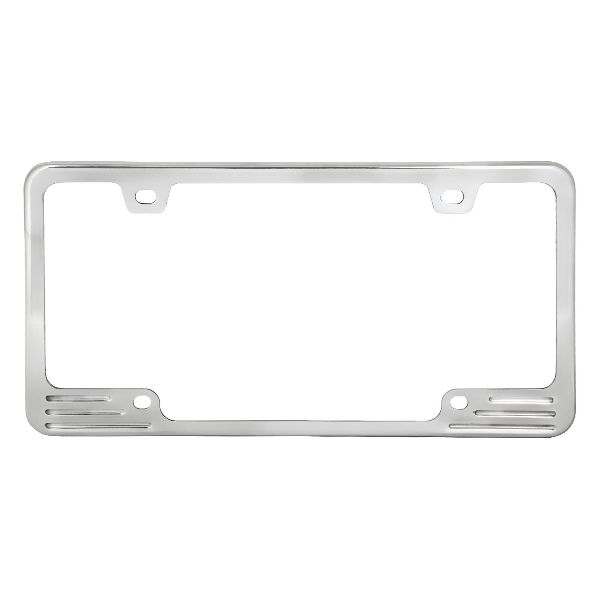 Grand General 60470 Polished Aluminum License Plate Frame with 4 Holes