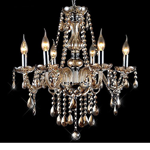 MAMEI™Luxurious Modern Crystal Candle Chandeliers Lighting Pendant Ceiling Lights Fixture Lamp H23.6″X W21.65″