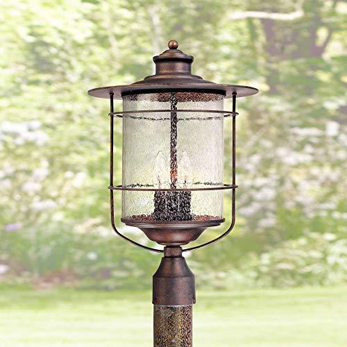Casa Mirada Industrial Farmhouse Outdoor Post Light Bronze 19 3/4