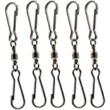LGEGE Smooth Spinning Dual Clip Swivels Wind Spinner Hangers Spiral Tails Twisters Wind Socks, for