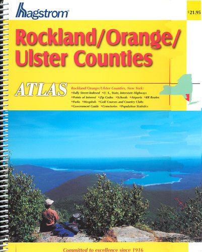 Hagstrom Rockland/Orange/Ulster Counties Atlas for sale  Delivered anywhere in USA