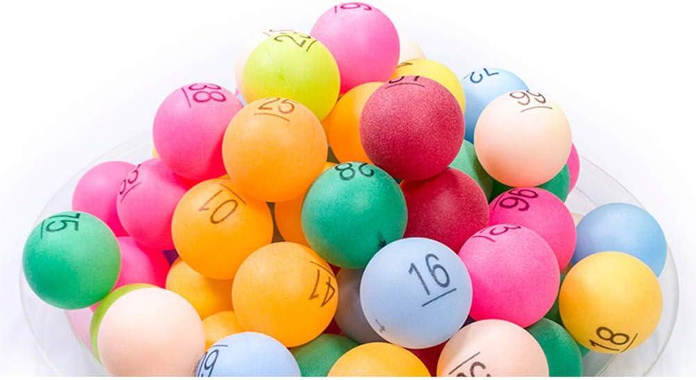 Deeabo 50 Piezas de Pelotas de Ping Pong de Entretenimiento con El Número 1-50 Pelotas de Tenis de Mesa Surtidas para Juegos de Fiesta Color Aleatorio