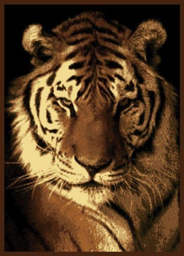 United Weavers Legends Area Rug 910-02450 Tiger Portrait Nature Tiger 5