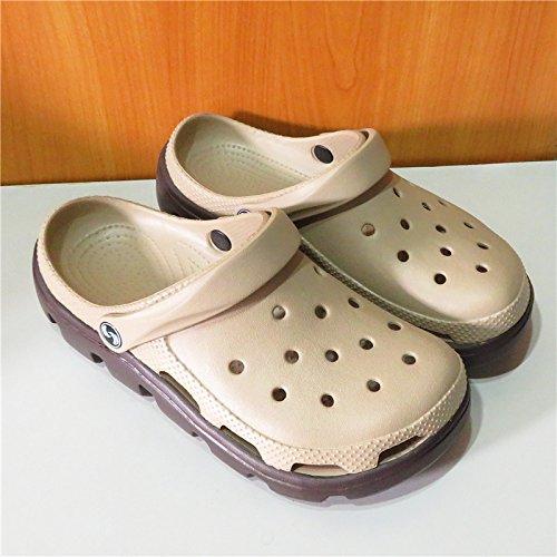 Xing Lin Sandalias De Hombre Orificio De Deportes Zapatos De Hombre Calzado De Playa Patrón Baotou Jardín Llano Zapatos Para Hombres Sandalias Hueco Antideslizante Khaki