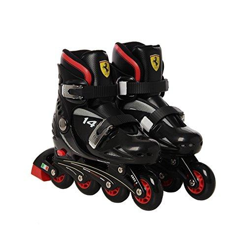 Ferrari Kids Adjustable Inline Skate Combo Set Black Size S