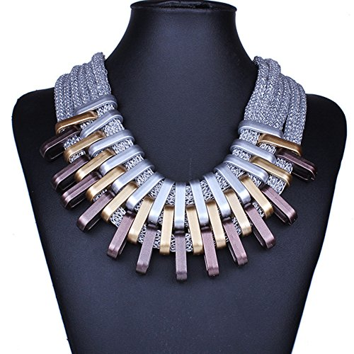 Bs1981 Luxury Charm Chunky Chain Gold Silver Plated Statement Choker Necklaces Bijoux Jewelry