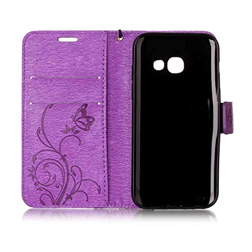 iPhone 5 5S SE Coque Portefeuille , Leiai Mode Cuir PU + silicone doux Housse Gel Etui Portefeuille Case Bummper Cover Imperméable pour Apple iPhone 5 5S SE Rose