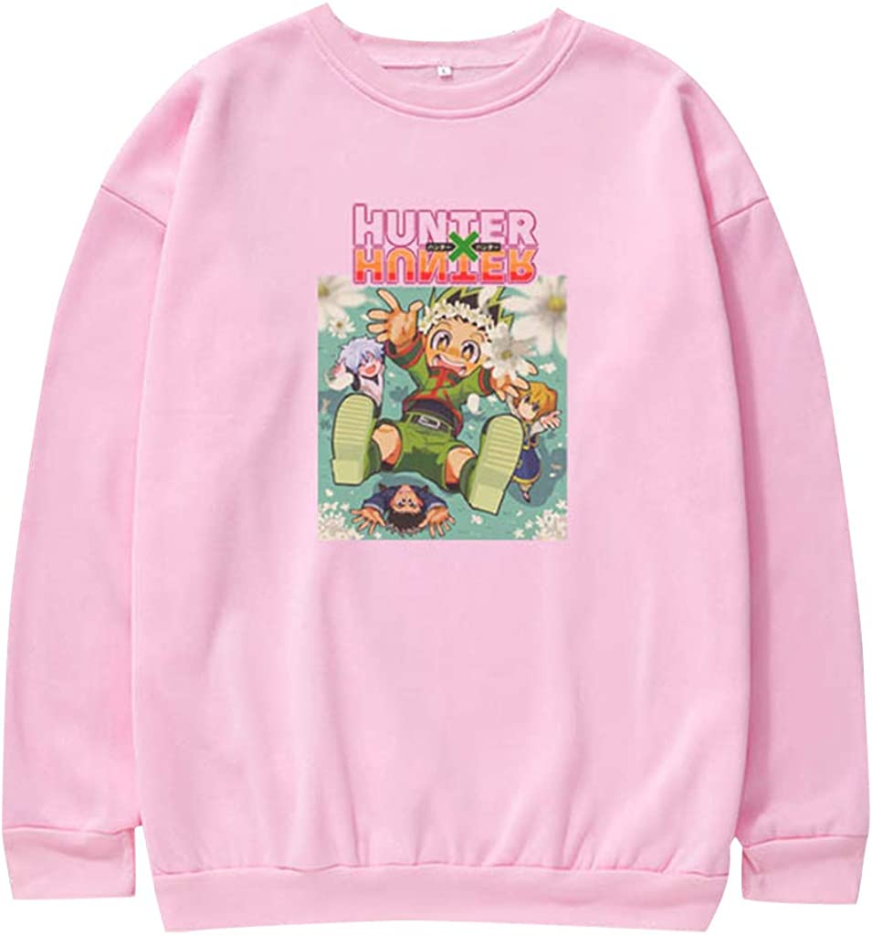 KIACIYA Hunter x Hunter Sweatshirt Col Rond Homme Femme Hunter x Hunter Pull Sweat Gon Hisoka Killua Kirua Kurapika Cosplay /à Manches Longues Sweat-Shirts Manga Hunter x Hunter Vetement