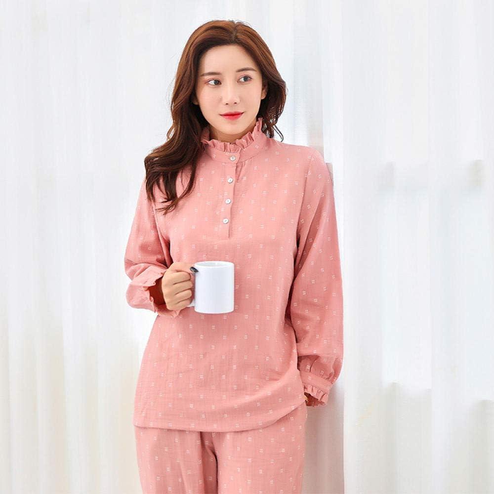 Pijamas Mujer Camisones Algodón se Puede Usar Fuera de Gasa Doble ...