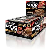 MuscleTech NitroTech Crunch Protein Bar, Chocolate Peanut Butter Twist, 22 Grams Protein, 5 Grams of Fiber, 240 Calories, Low Carb, Gluten Free, Soy Free, 65g Bars, 12 Count