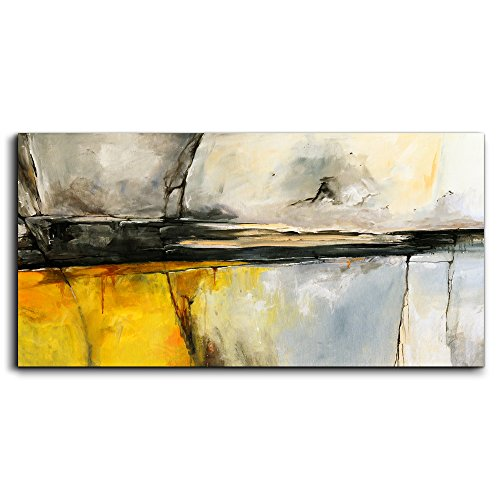 MHART66 wall art for living room Simple Life Abstract painting Canvas Print Wall Art Decor 20'' x 40'' single Pieces Framed Canvas Prints Ready to Hang for Home Decoration office Works of art by MHART66