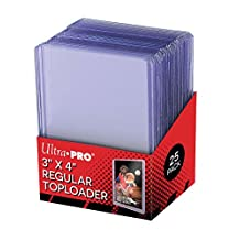 Ultra Pro 25 - 3 X 4 Top Loader Card Holder For Baseball, Football, Basketball, Hockey, Golf, Single Sports Cards Top Loads - Sportcards Card Collecting Supplies