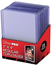 25 - Ultra Pro 3 X 4 Top Loader Card Holder for Baseball, Football, Basketball, Hockey, Golf, Single Sports Cards Top Loads - Sportcards Card Collecting Supplies