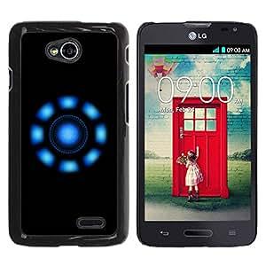 Caucho caso de Shell duro de la cubierta de accesorios de protección BY RAYDREAMMM - LG Optimus L70 / LS620 / D325 / MS323 - Blue Lights