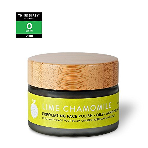 JUSU Body Lime Chamomile Exfoliating Face Polish for Acne/Oily Skin - 100% Natural
