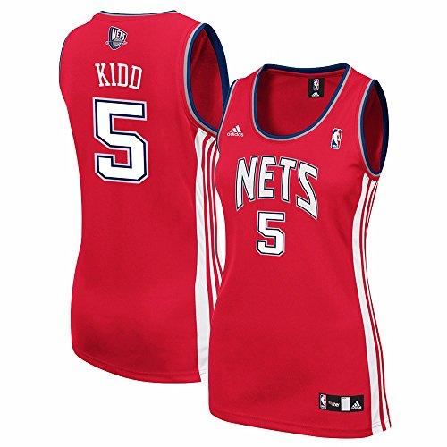 Jason Nets Jersey Kidd - Jason Kidd New Jersey Nets NBA Adidas Women's Red Replica Jersey (2XL)