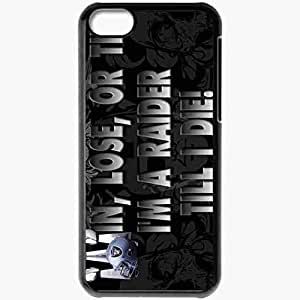 Personalized iPhone 5C Cell phone Case/Cover Skin 1351 oakland raiders Black