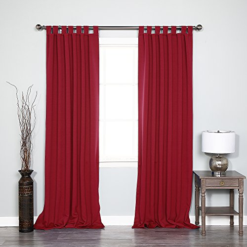 Best Home Fashion Tab Top Thermal Insulated Blackout Curtain - Tabtop - Cardinal Red - 52