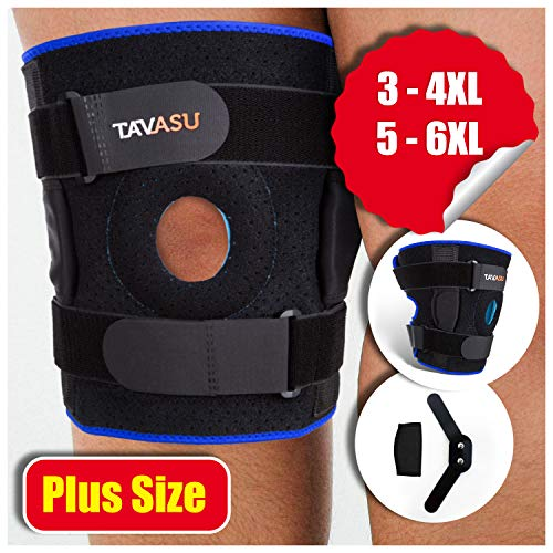 TAVASU Knee Brace for Plus Size, Hinged Stabilizer for ACL, Meniscus Tear, Arthritis Adjustable – 4XL