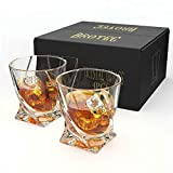TM Miracle Store Drinking Ware Glassware Crystal Whiskey Glass 4 Glass/Set