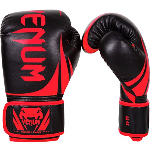 Venum Challenger 2.0 Boxing Gloves - Black/Red - 16-Ounce ()