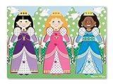 Melissa & Doug Princesses Dress-Up Wooden Peg Puzzle (9 pcs)