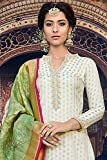 Delisa White Beauty Georgette Embroidery Salwar