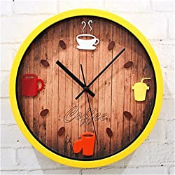 CCYYJJ Wall Clock Of Pot Of Coffee, White