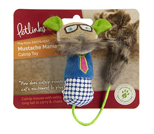 Petlinks Mustache Mania Catnip Cat Toy
