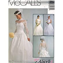 8047 McCalls Sewing Pattern UNCUT Misses Wedding Dress Bridal Gown Size 14 16 18