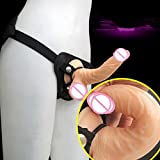 Hetam vibrator strapon sex dildo strapless strap on dildos for women men gay lebian sex toys for woman dildo realistic vibrator dildo