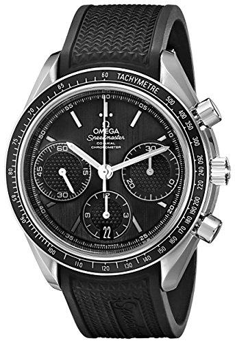 Omega Men s 32632405001001 Speed Master Analog Display Automatic Self Wind Black Watch