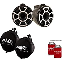 Wet Sounds REV 10 X Mount Tower Speakers with Suitz speaker Covers - Black
