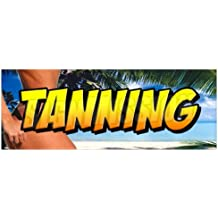 TANNING -Window Decal- beauty salon tan spa sign signs