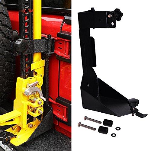 OMOTOR Off-Road Tailgate Hi-Lift Jack Mount Bracket fit for Jeep Wrangler JK 2007 2008 2009 2010 2011 2012 2013 2014 2015 2016 2017