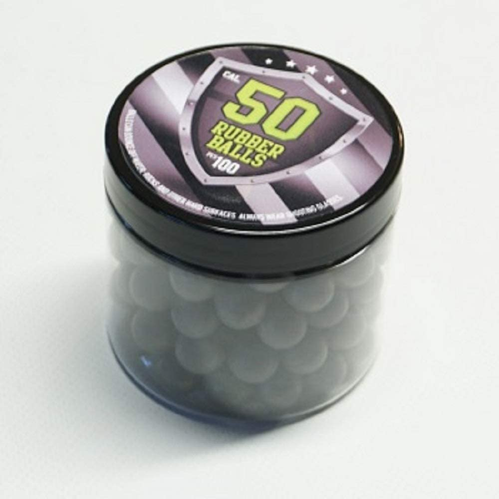 SSR 100 x Rubber Balls 50 .Cal Bolas de Pintura Pelotas de Goma la Pistola HDR50 Revolver T4E RAM Rubberballs Paintballs