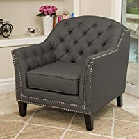 Christopher Knight Home 296909 Coat bridge Arm Chair, Dark Gray