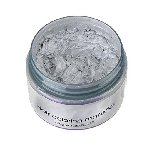 (Inkach Hair Dye Wax, Unisex DIY Hair Color Clay Mud Temporary Hairstyle Molding Coloring Hair Cream)