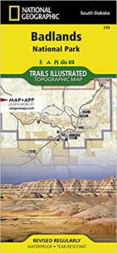 Badlands National Park South Dakota Usa Outdoor Recreation Map