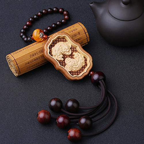 Myzixuan Car Pendants, Interior Accessories, Wood Inlays, Ornaments, car, Rear View Mirror, Security, Hanging