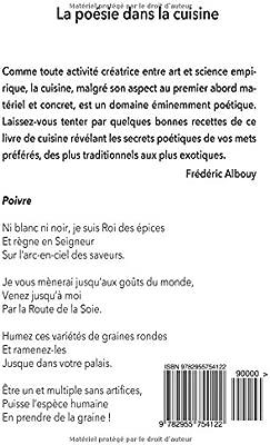 La Poésie Dans La Cuisine Poèmes Culinaires Amazonfr